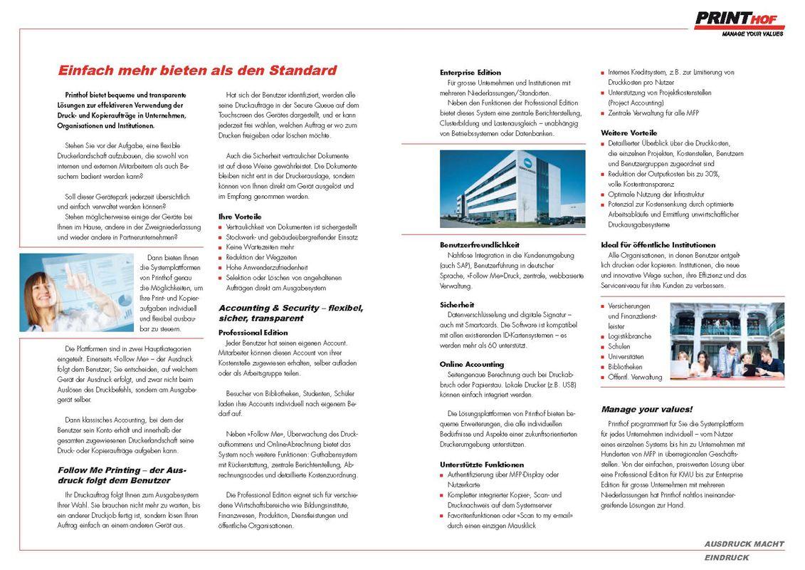 Printhof Accounting & Follow Me Printing
