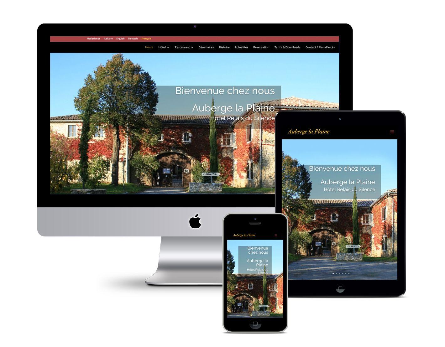 Responsive Webdesign – Auberge la Plaine