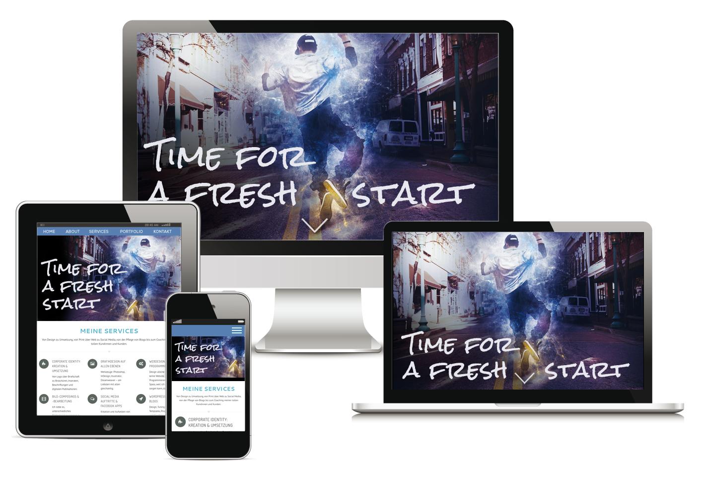 Time for a Fresh Start – Webdesign by Designerist