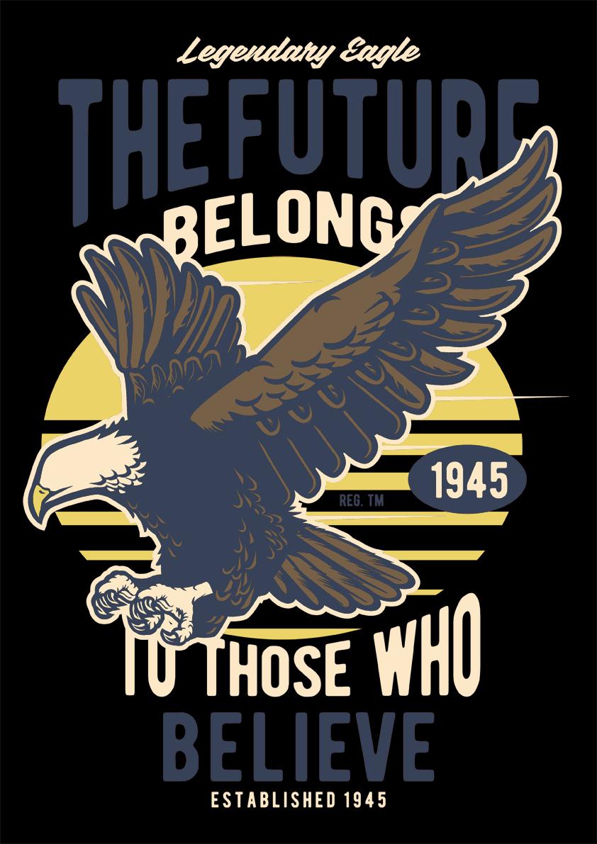 Retro Card – Legendary Eagle