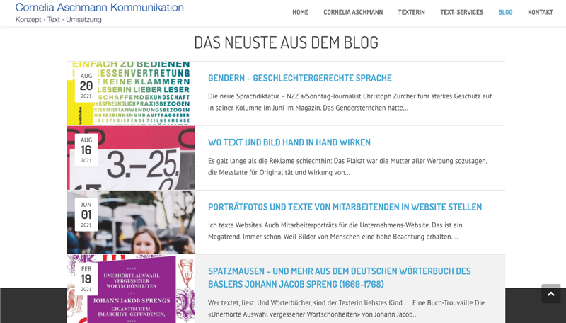 Cornelia Aschmann Kommunikation Blogartikel
